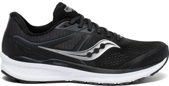 Saucony Men's Omni 19 2E BLACK/WHITE
