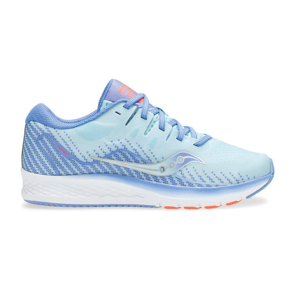 Saucony Girls Ride ISO 2 GRY/BLU