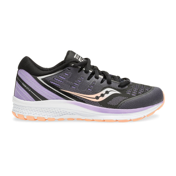 Saucony Girls Guide ISO 2 BLK/PURP