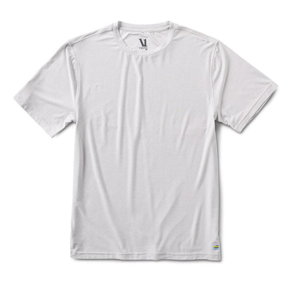 Vuori Clothing Men's Strato Tech Tee SALT HEATHER