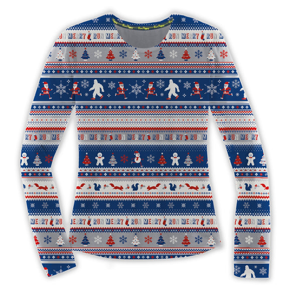 Brooks Women's Ugly Sweater LS RUN MERRY