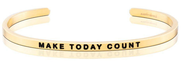 Mantra Band MAKE TODAY COUNT GOLD