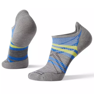 SmartWool PhD Light Elite Pattern Micro LIGHT GRAY