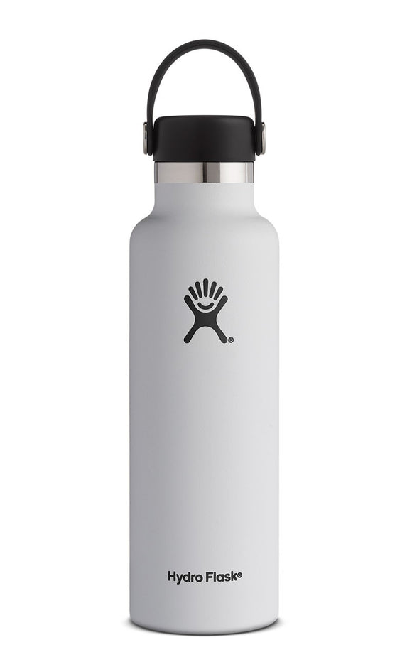 Hydro Flask 21oz Standard Mouth WHITE