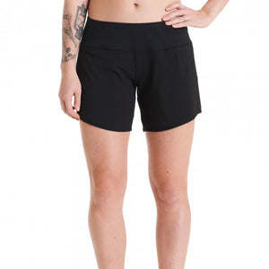 "Oiselle Running, Inc Women Long Roga 6"" Short BLACK"