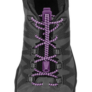 Nathan Sports Run Laces Reflective  PURPLE
