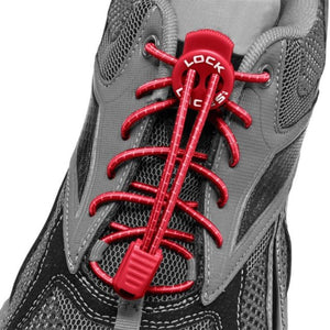 Nathan Sports Lock Laces Red
