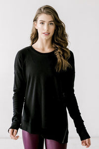 Define Your Inspiration Women Coverup W/ Zipper BLACK