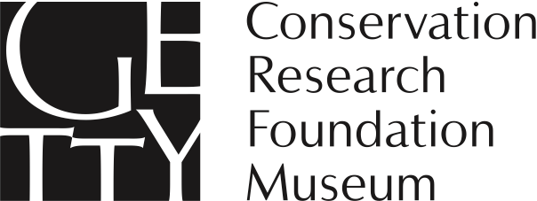 Getty wordmark logo with names of four programs: Conservation, Research, Foundation, Museum