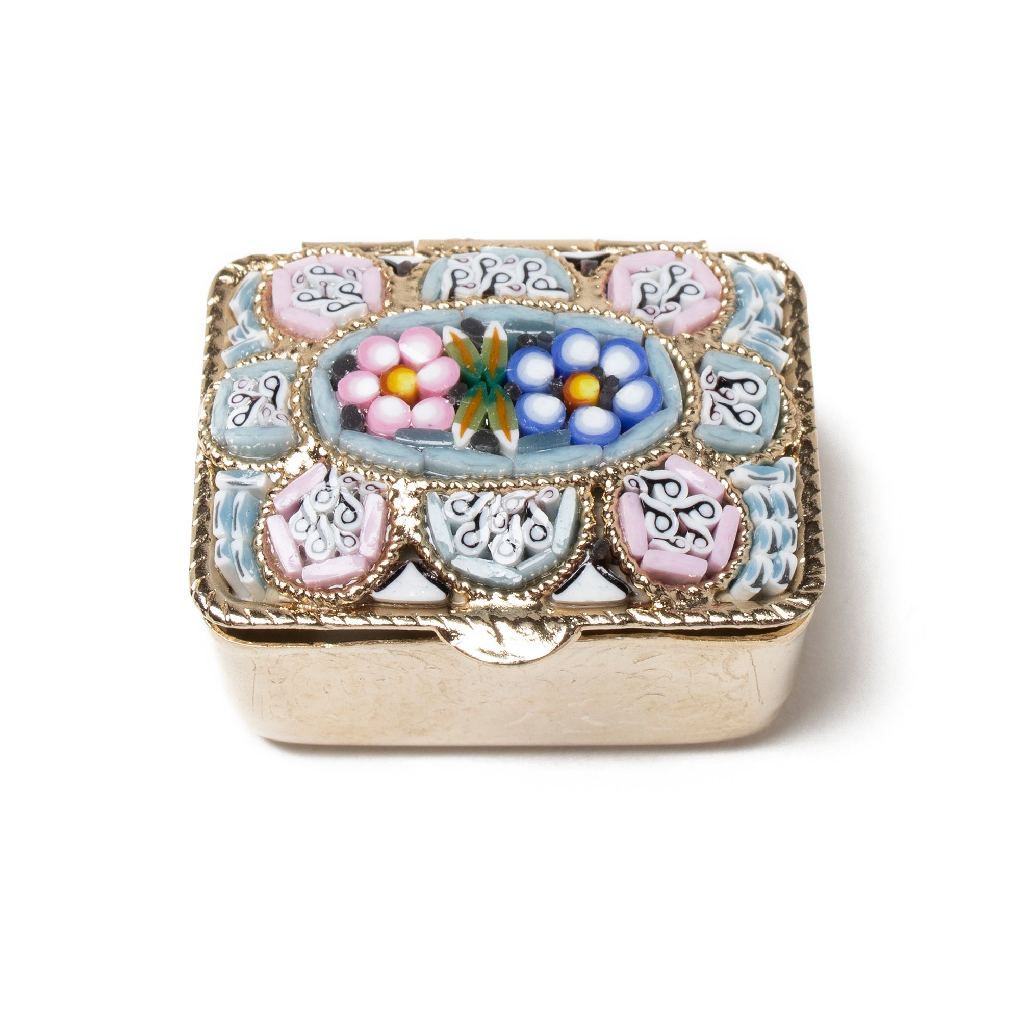 Murano Glass Mosaic Pill Box - Rectangular