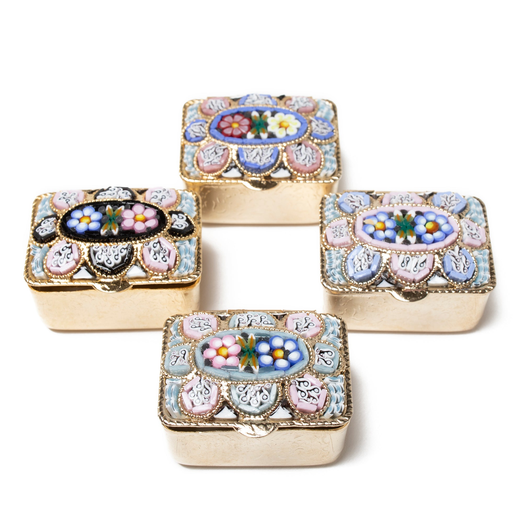 Murano Glass Mosaic Pill Box- Rectangular | Getty Store