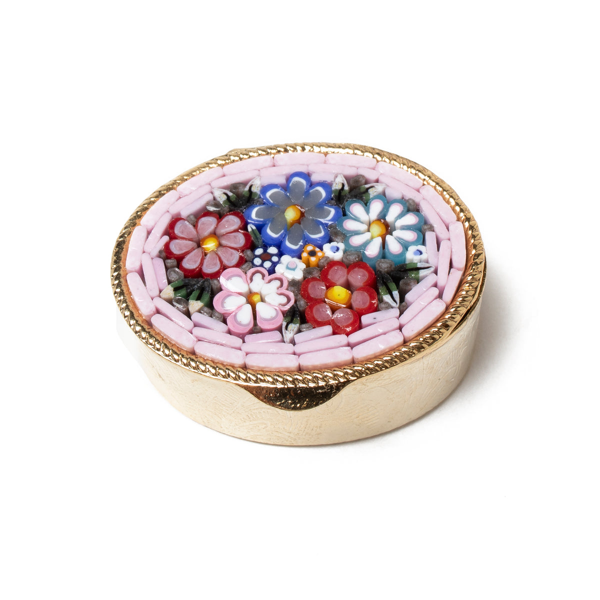 Murano Glass Mosaic Pill Box- Oval | Getty Store