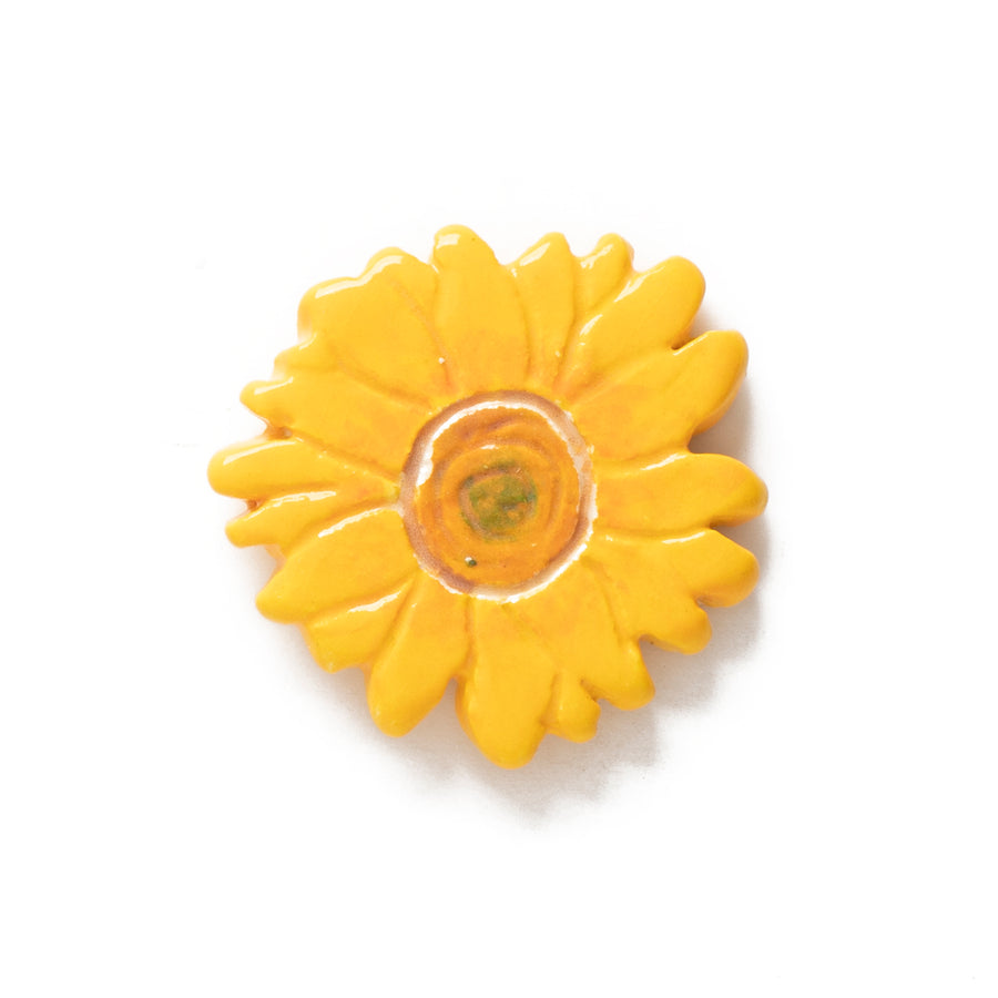 Sunflower Ceramic Pin