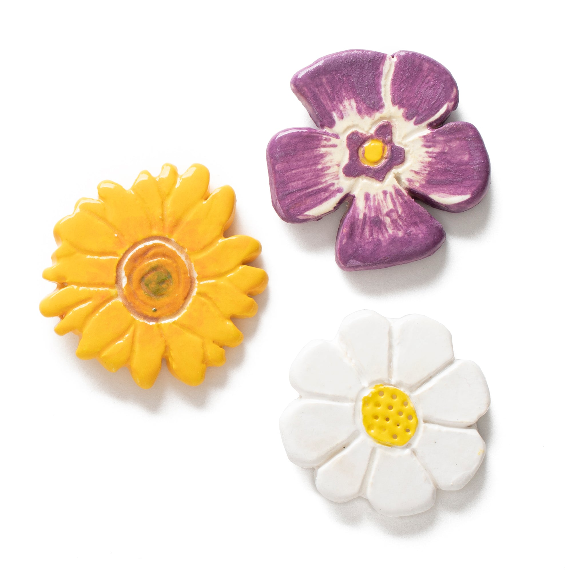 Flower Ceramic Pin Set