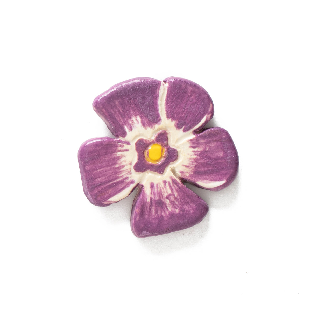 Periwinkle Ceramic Pin | Getty Store