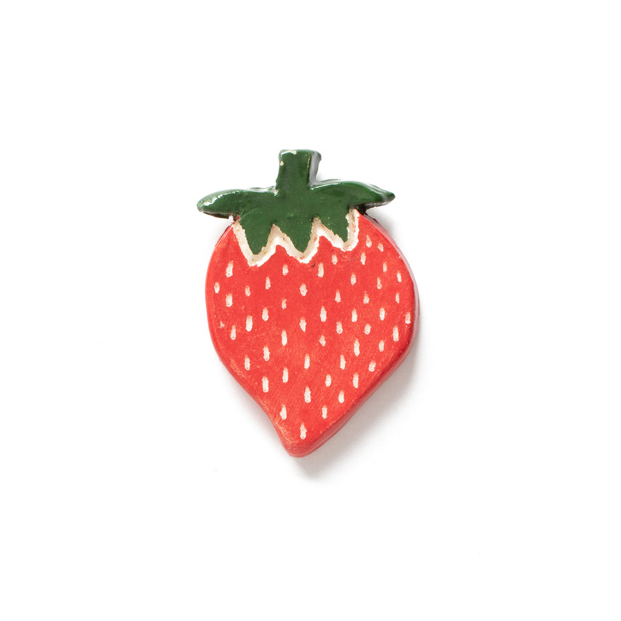 Strawberry Ceramic Pin