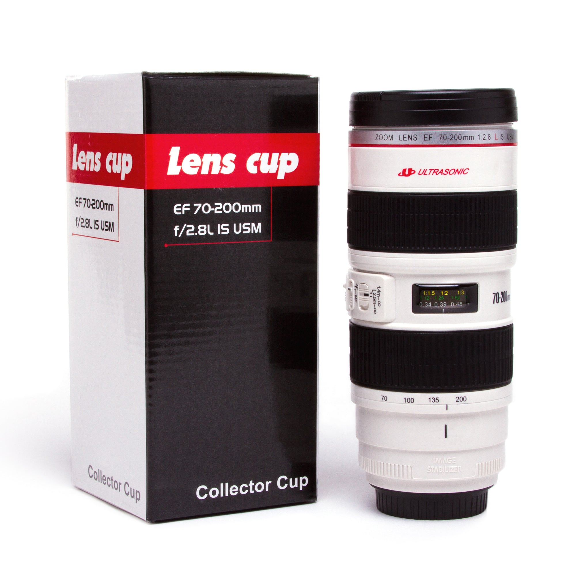 Camera Lens Commuter Mug-White | Getty Store
