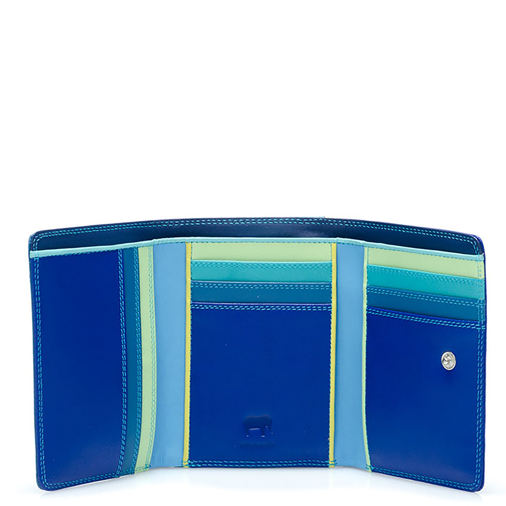 Colorful Leather Tri-Fold Wallet- Seascape | Getty Store