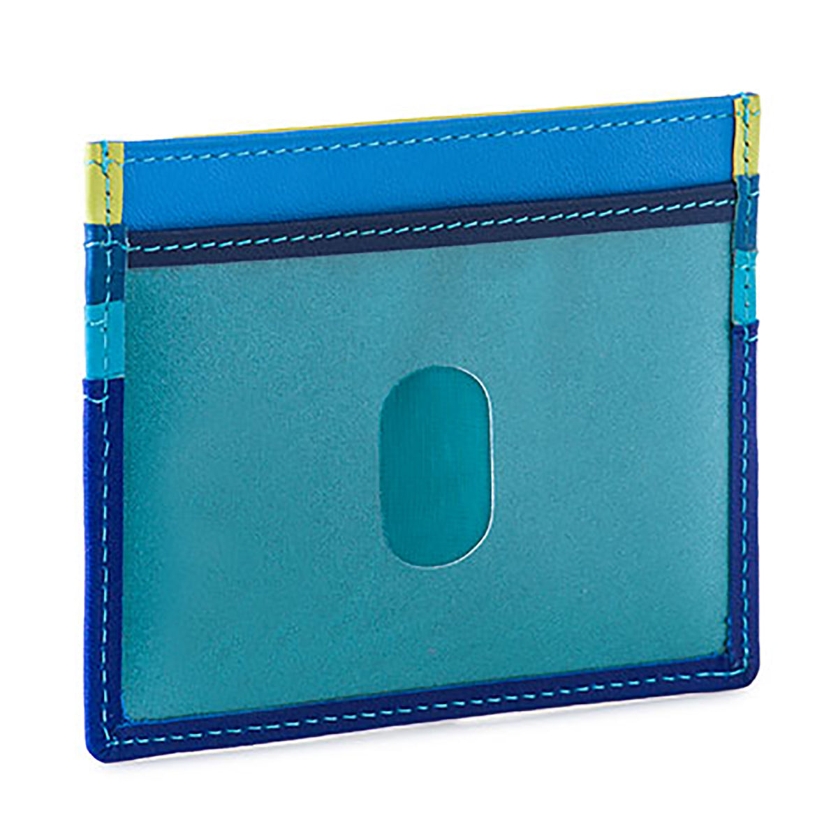 Colorful Leather Credit Card Holder- Seascape | Getty Store