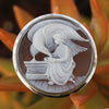 Hand Carved Cameo Brooch - Zeus and Hebe