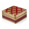Florentine Box with Renaissance Design - Red