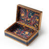 Florentine Box with Renaissance Design - Blue