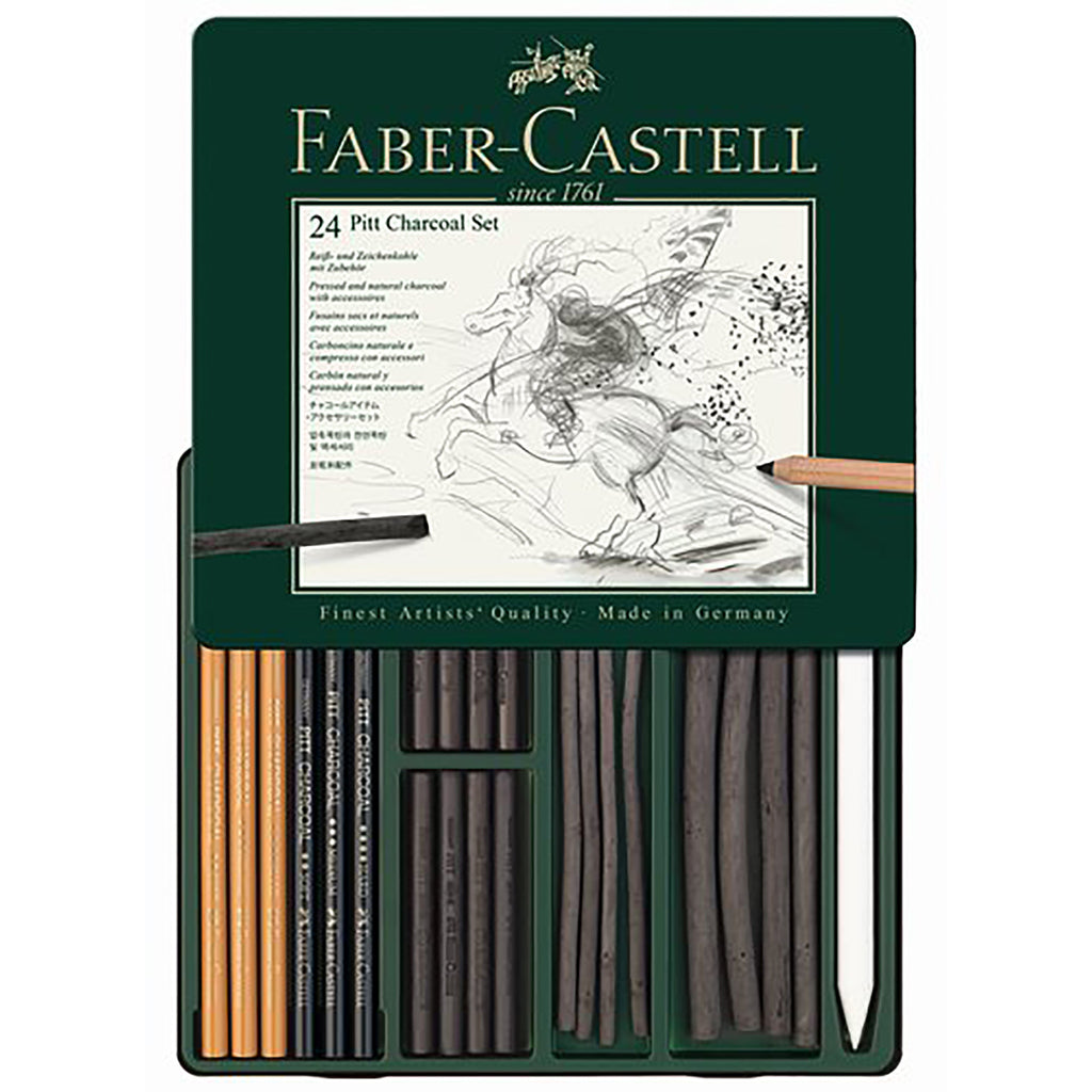 Charcoal Drawing Kit - 24 Pieces