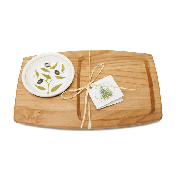 Appetizer Board with Olive Dish