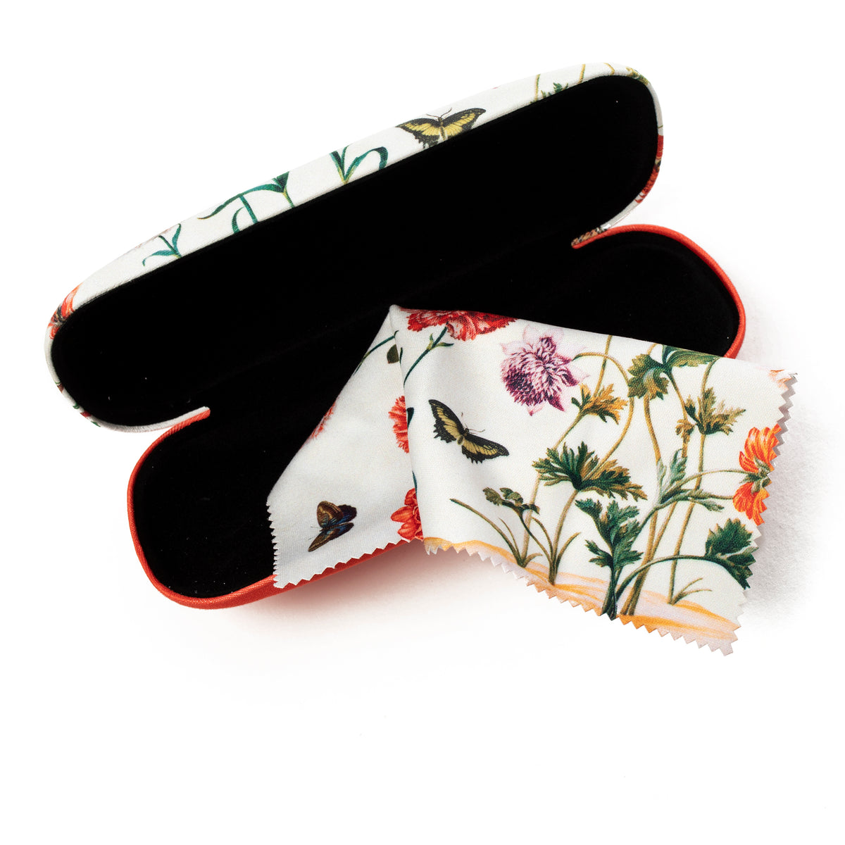 Eyeglass Case and Lens Cloth- Marie Sibylla Merian- Shown Open | Getty Store