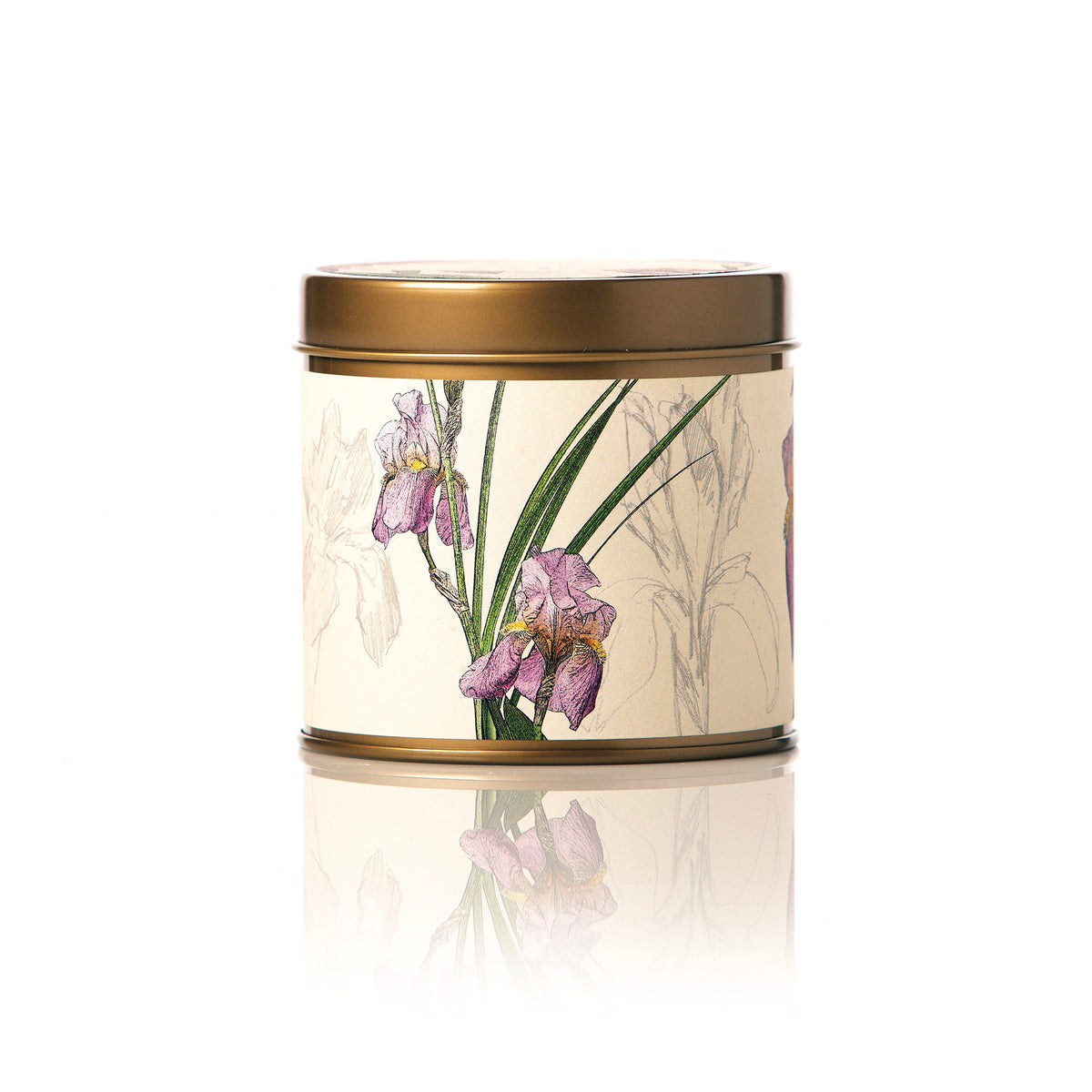 Botanical Candle Tin -  Iris Moon
