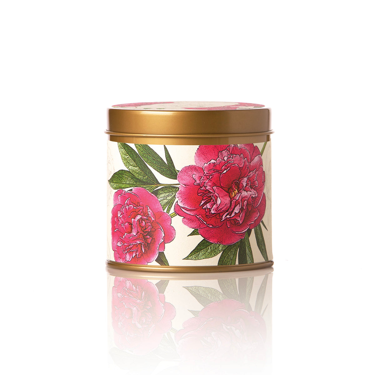 Botanical Candle Tin - Peony and Pomelo