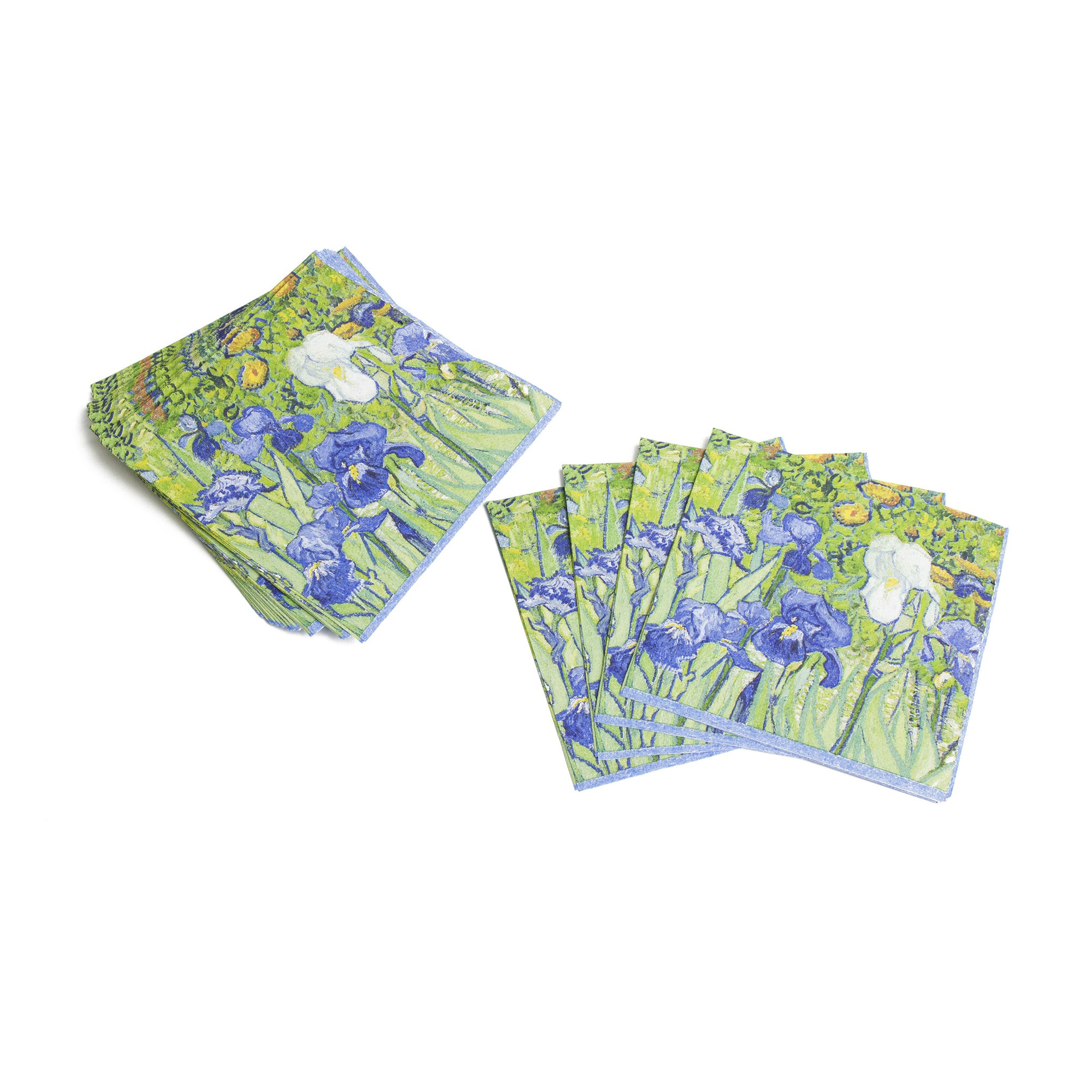 Van Gogh Irises Paper Cocktail Napkins | Getty Store
