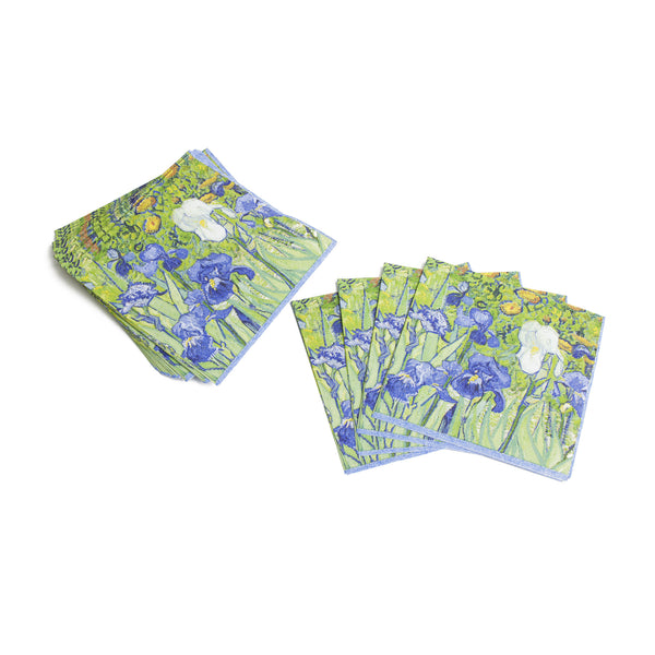 Van Gogh <i>Irises</i> Paper Cocktail Napkins