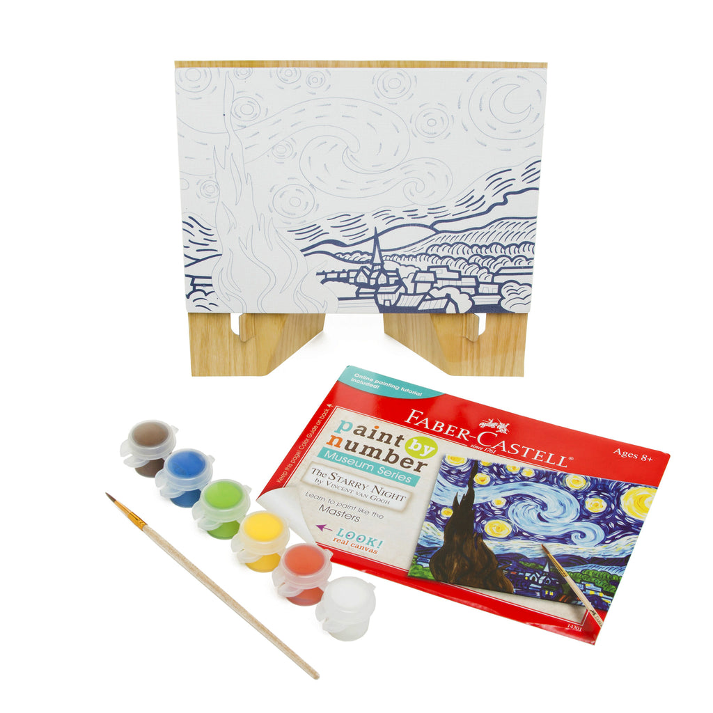Paint-by-Number Guided Art Set - <i>Starry Night</i> by Vincent Van Gogh