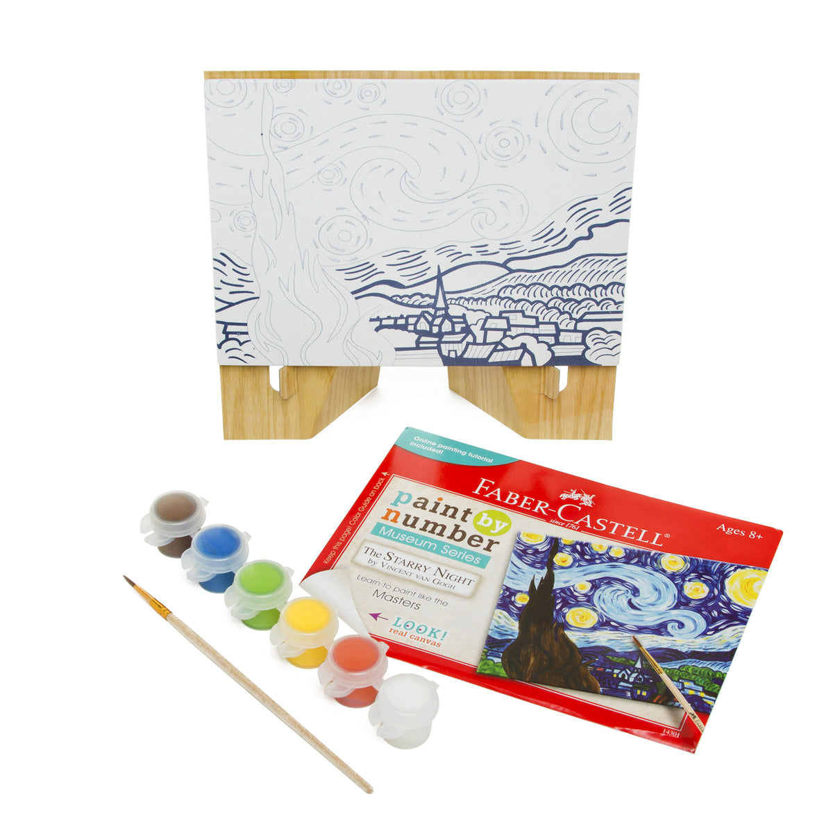 Paint by Number Guided Art Set- Starry Night by Vincent Van Gogh | Getty Store