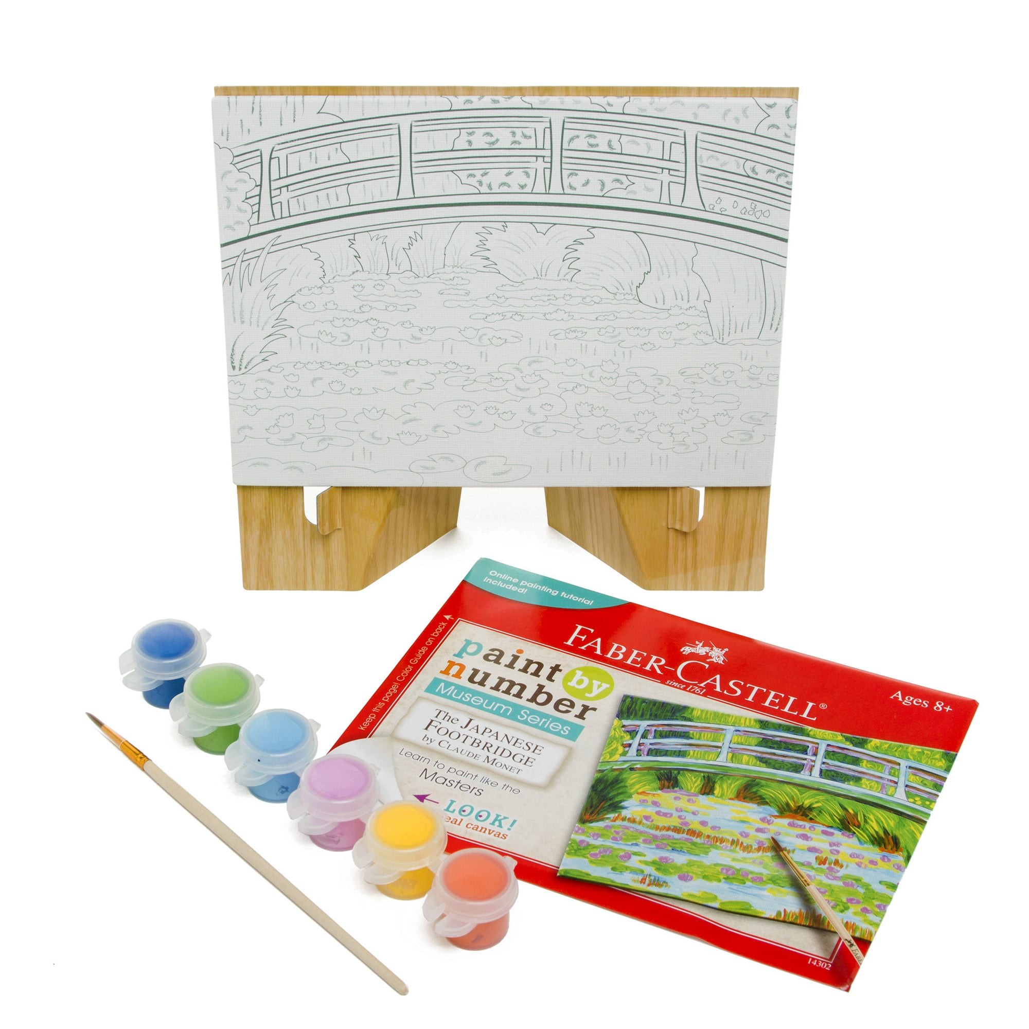 Paint by Number Guided Art Set- Japanese Footbridge by Claude Monet | Getty Store