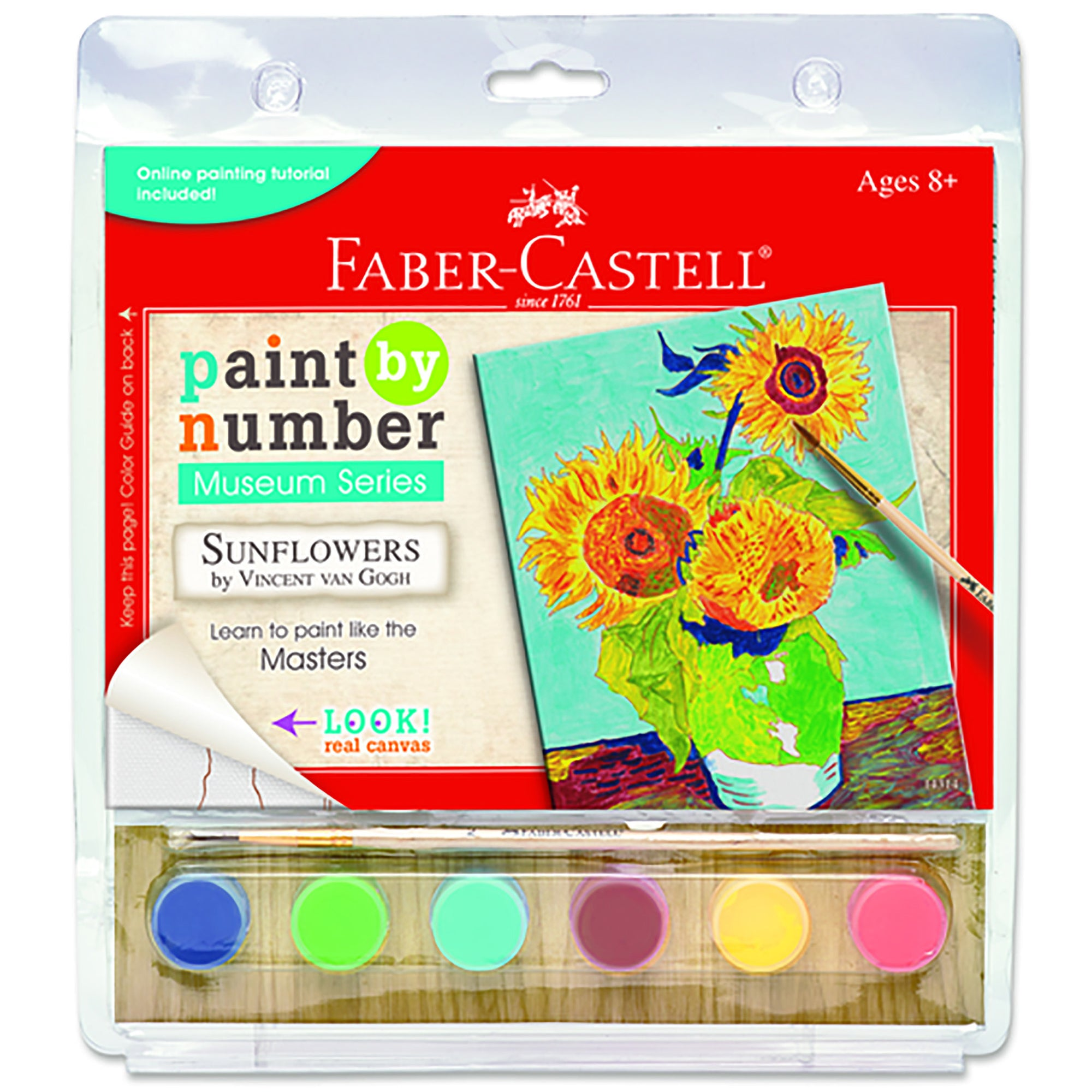 Paint by Number Guided Art Set- Sunflowers by Vincent Van Gogh | Getty Store