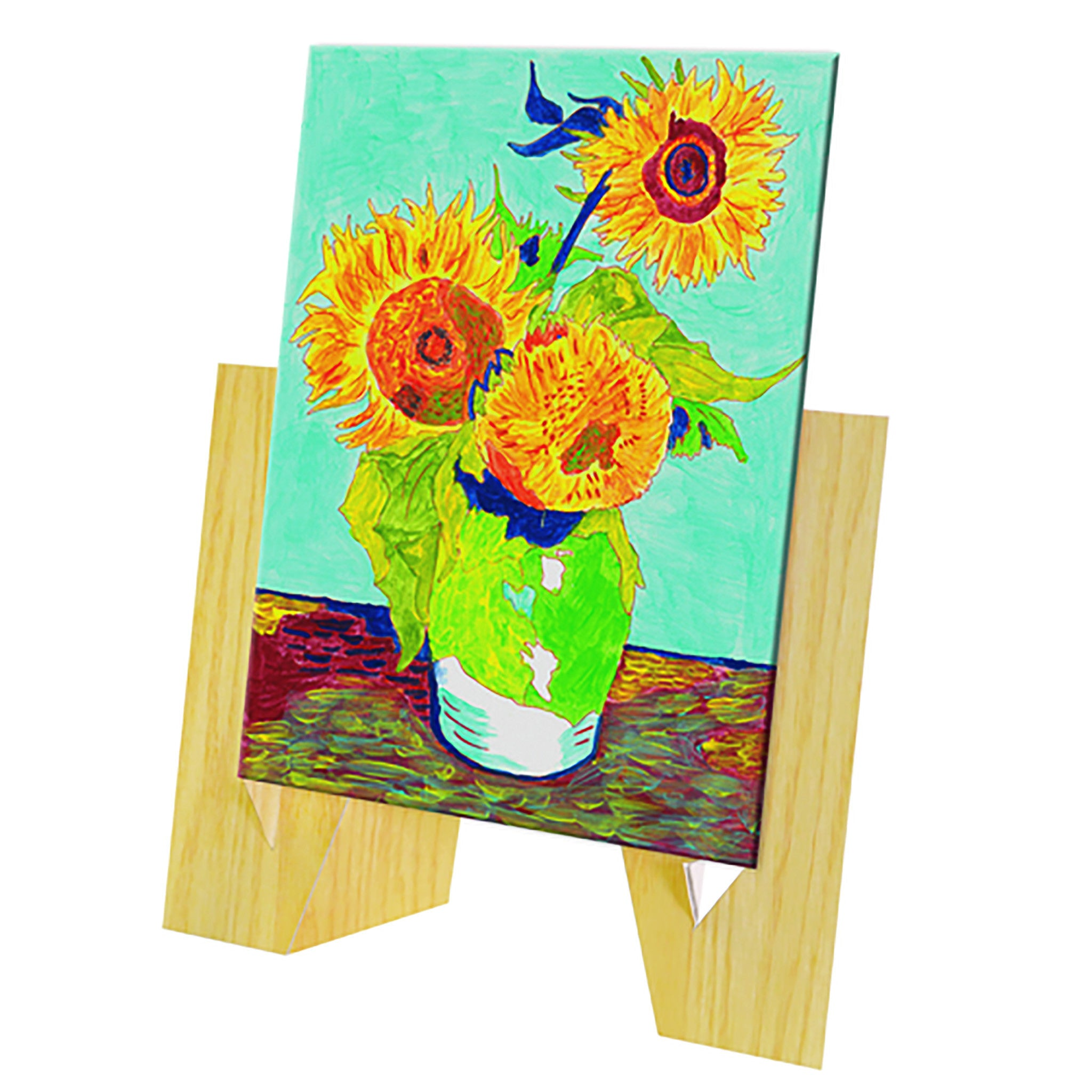 Paint-by-Number Guided Art Set - Van Gogh\'s Sunflowers – The Getty Store