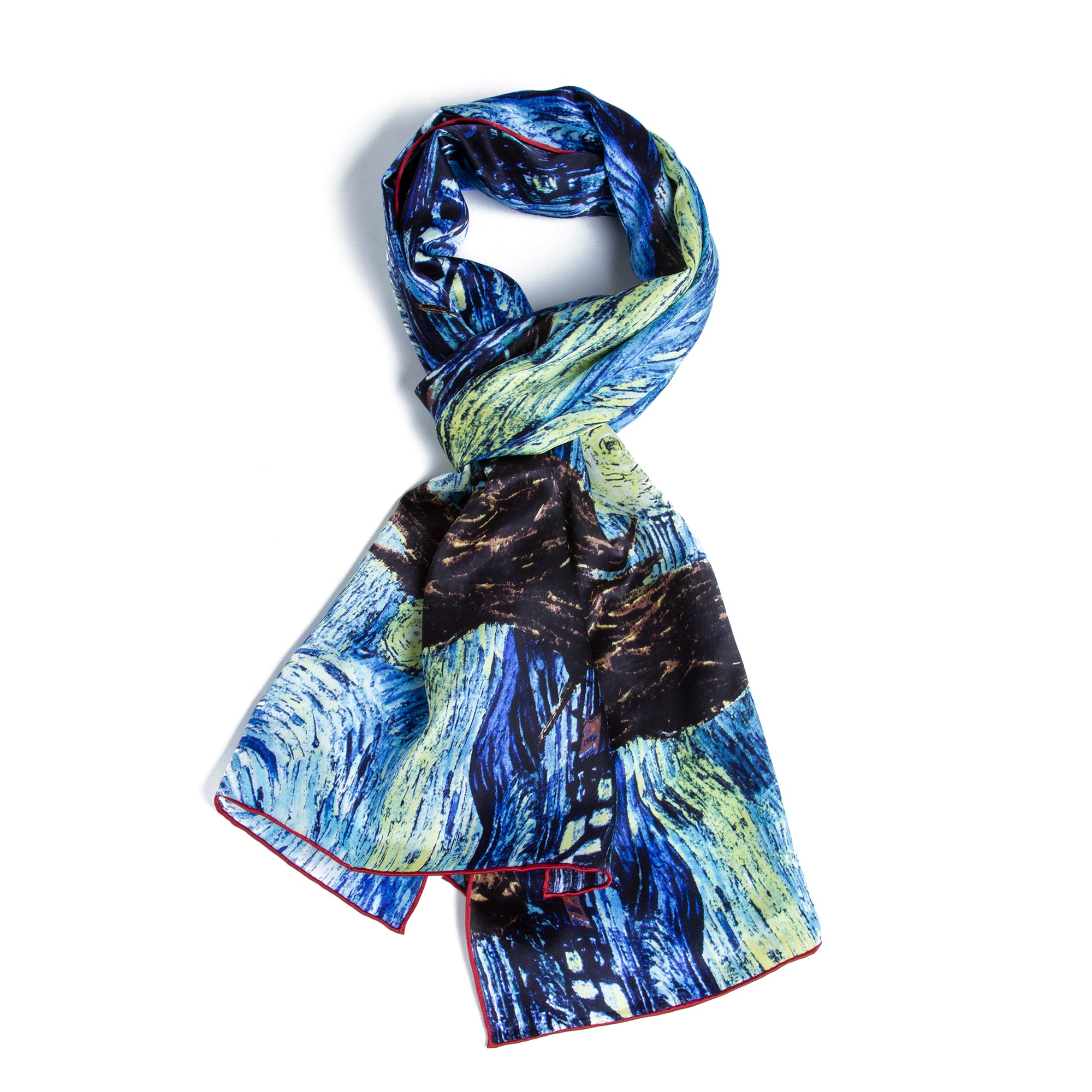 Van Gogh The Starry Night Silk Scarf | Getty Store