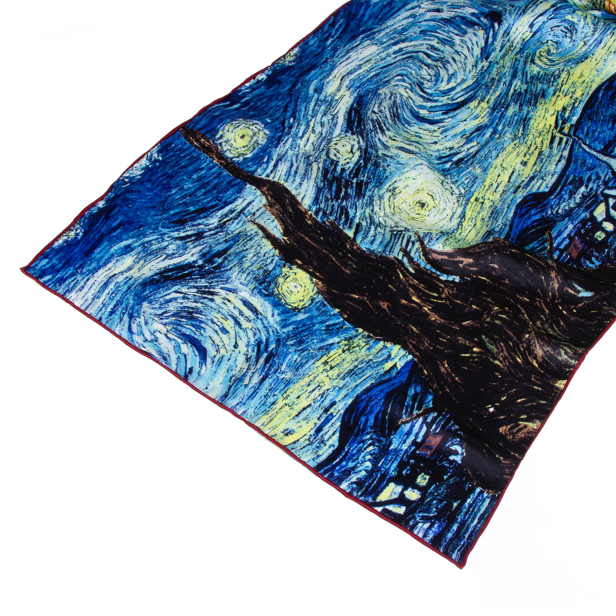 Van Gogh The Starry Night Silk Scarf- Detail shown | Getty Store