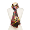 Monet's Water Lilies Long Silk Satin Scarf