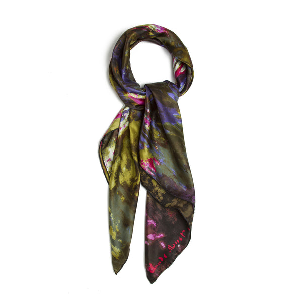 Claude Monet Waterlilies Silk Scarf