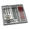Drawing Kit - Silver Graphite Wood Box Set