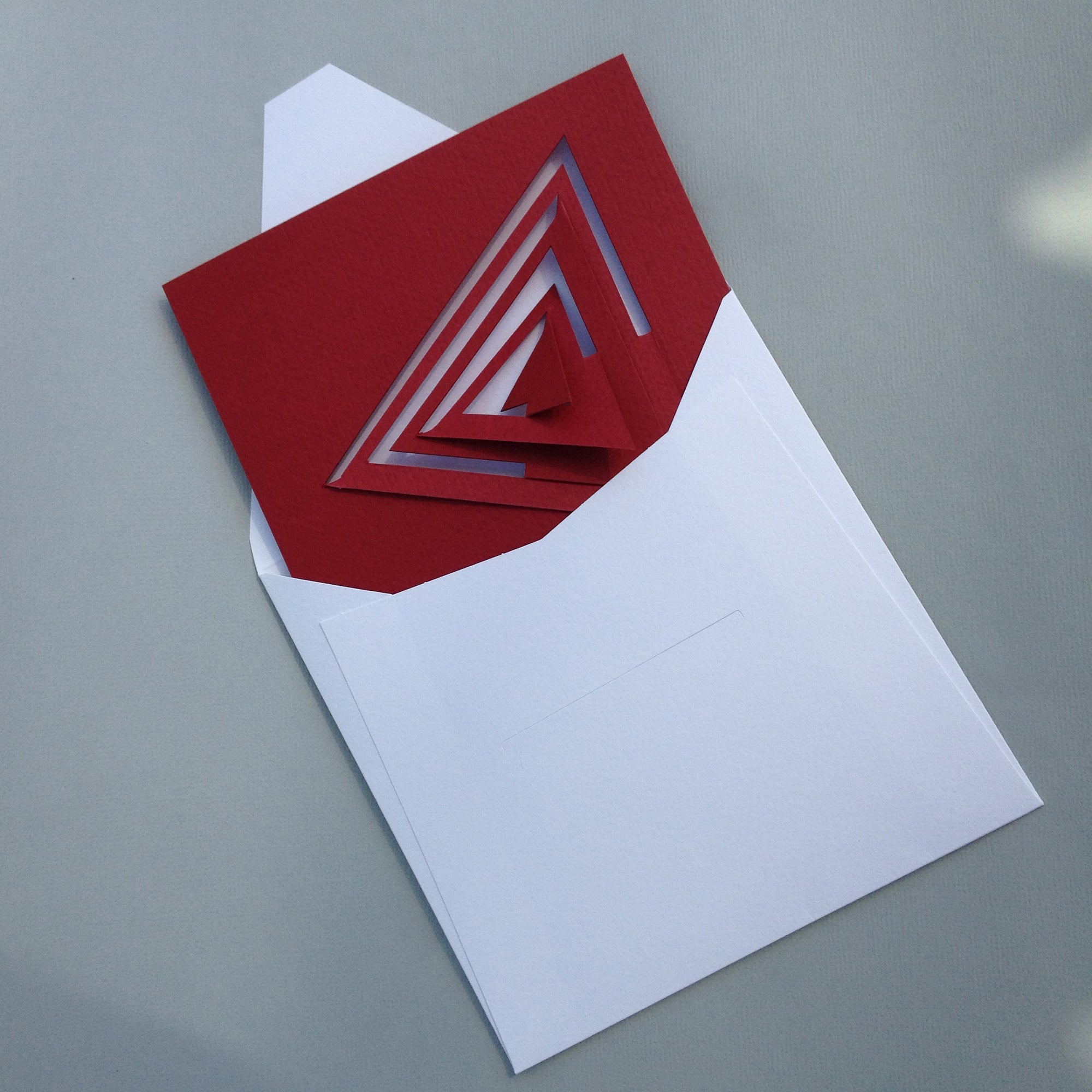 Bauhaus Style Notecard- Red Triangle | Getty Store