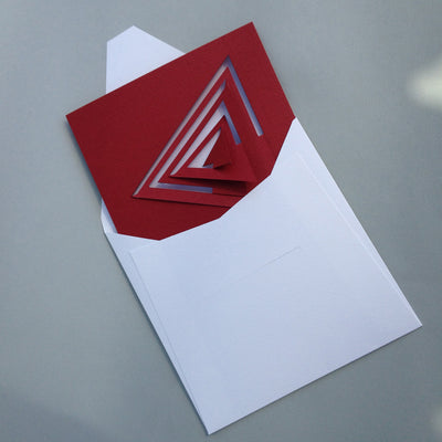 Bauhaus Style Notecard - Red Triangle