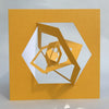 Bauhaus Style Notecard - Yellow Hexagon