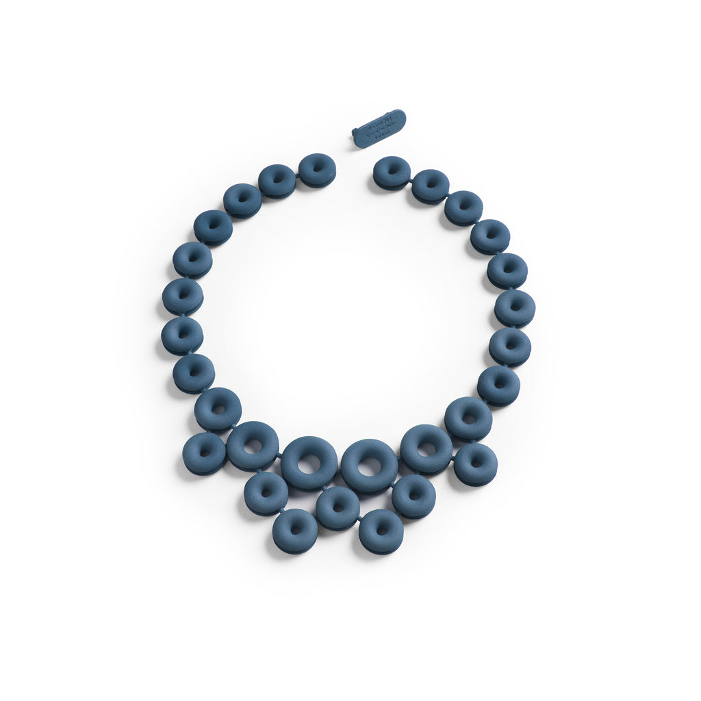 3D Printed Midnight Blue Necklace
