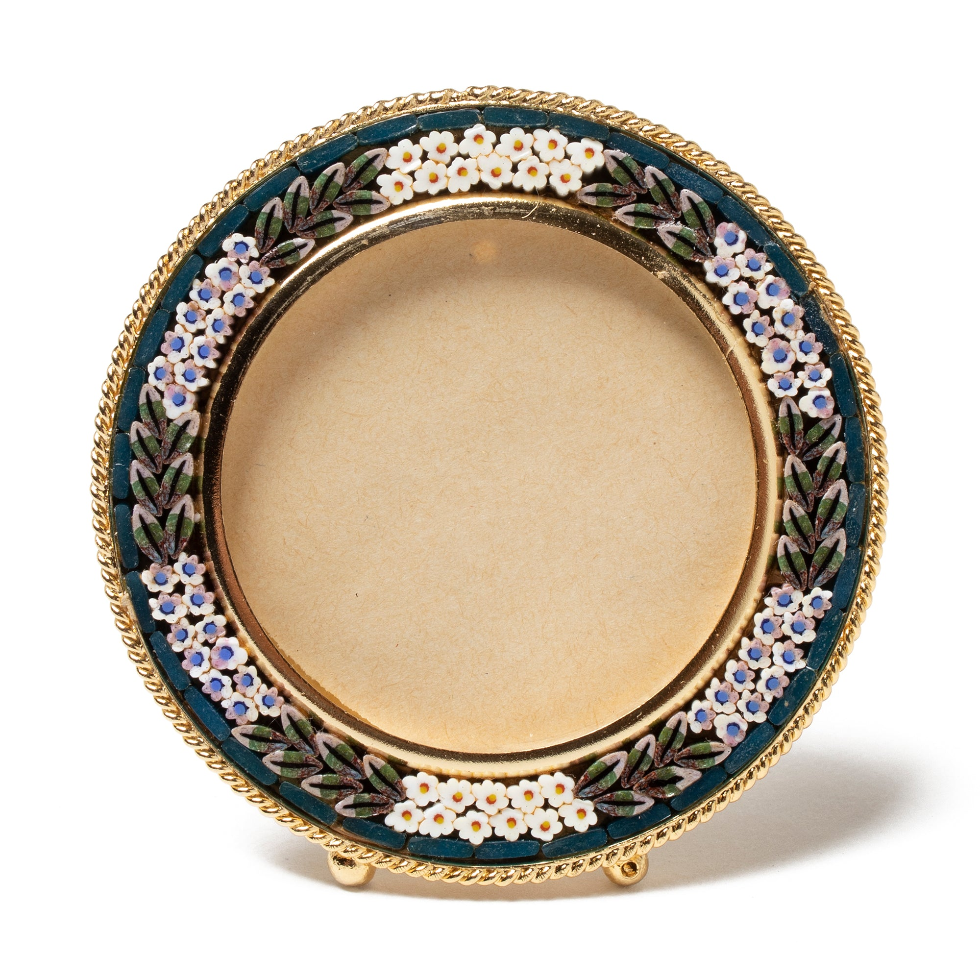 Murano Glass Mosaic Frame-Round | Getty Store