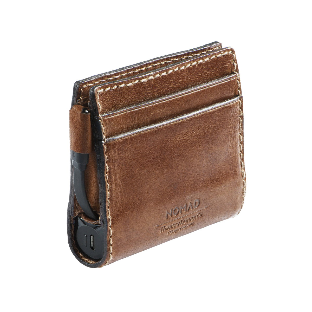 Leather Charging Wallet for iPhone | Getty Store