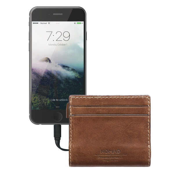 Leather Charging Wallet for iPhone